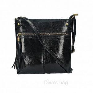 Italian Leather Shoulder & Crossbody Bag in black