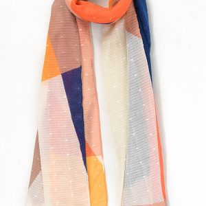 Womenis scarf in geometric shatter design