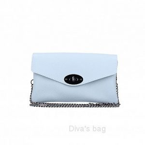 Italian Leather Crossbody Bag/ Shoulder Bag/Clutch Bag in light blue