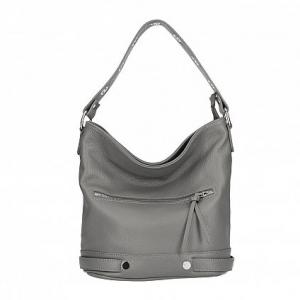 Italina Leather Grey Shoulder Bag