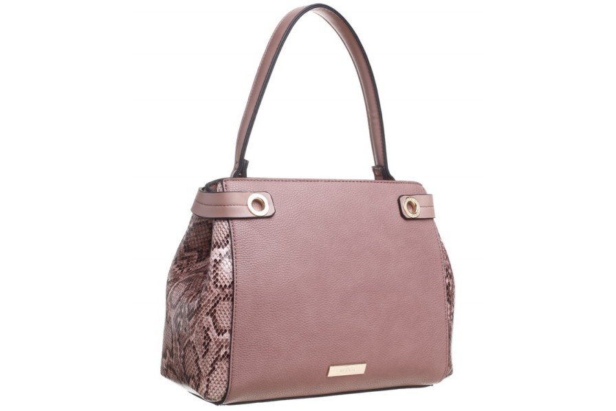 Bessie London Handbag with Snakeprint Sides