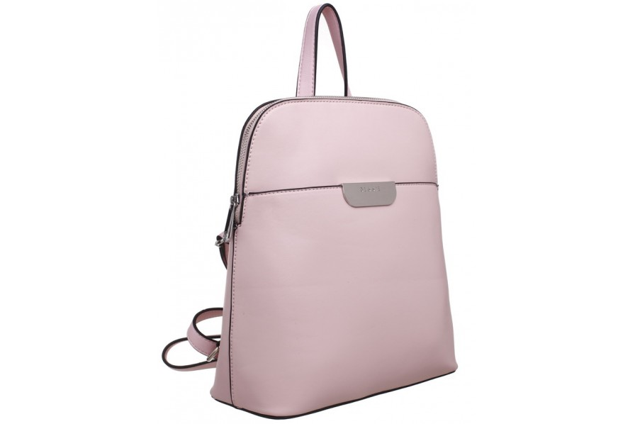 Bessie London Fashion Rucksack in Pale Pink