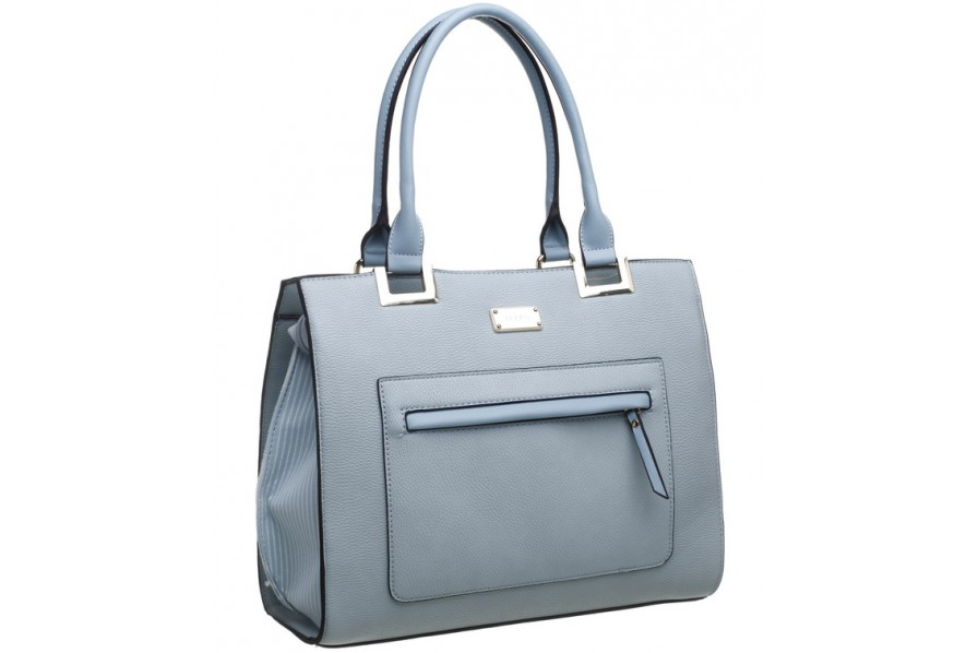Bessie London Pale Blue Tote Bag