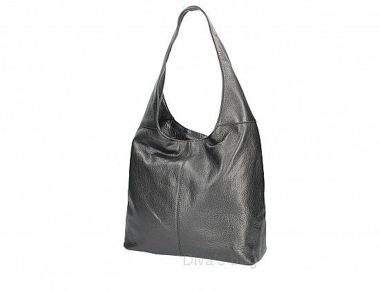 Italian Leather Hobo Style Shoulder Bag