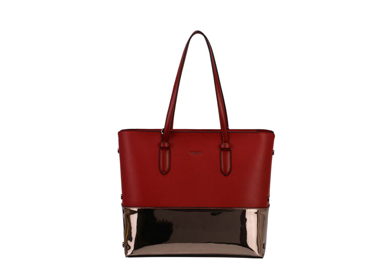 David Jones Shopper Bag in a Bag in Dark Red
