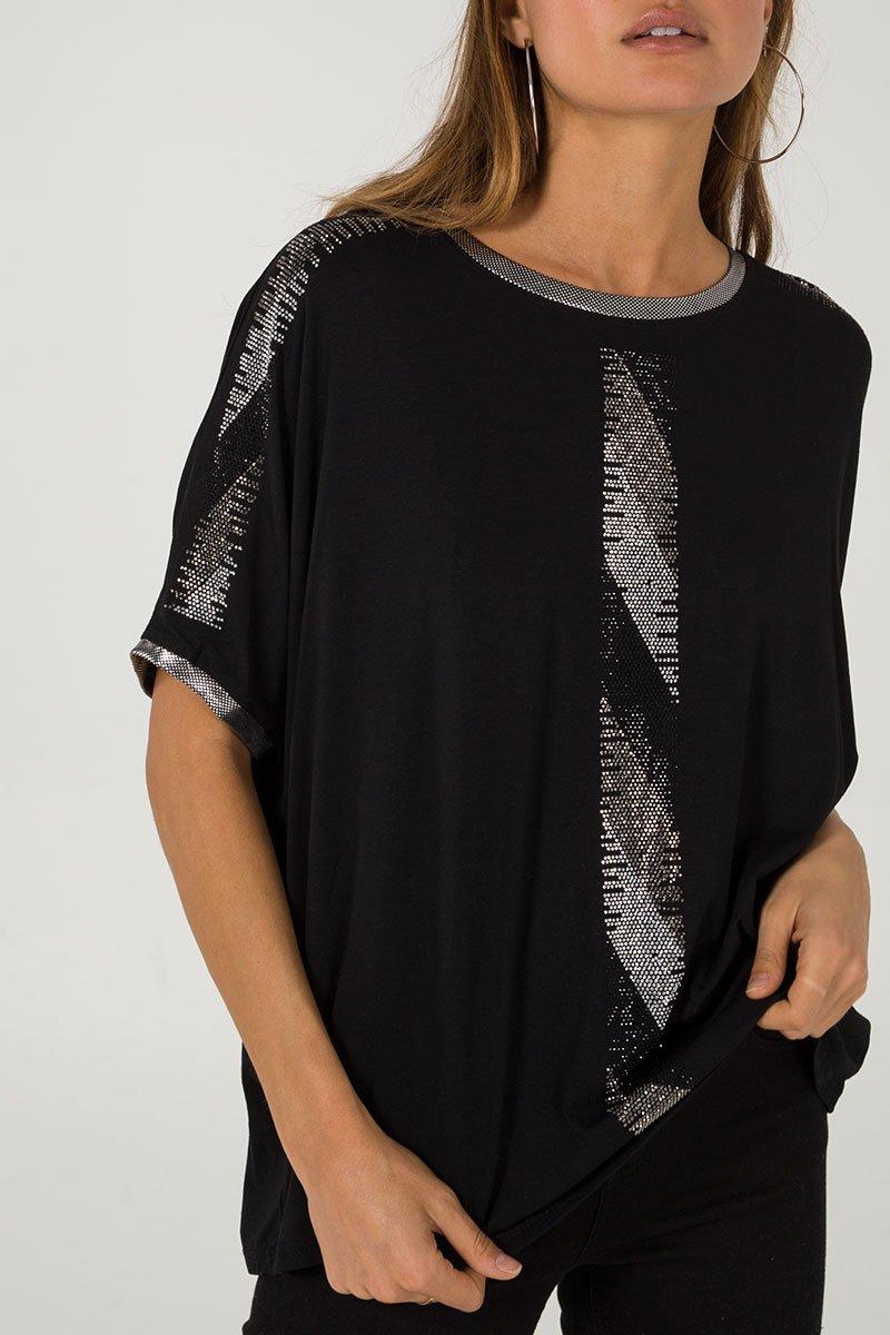 Diamnate Detail Oversize T-Shirt