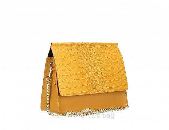 Italian Leather'Lula' bag in mustard