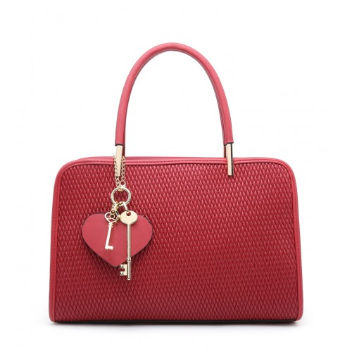 Moda handbag with heart keyring