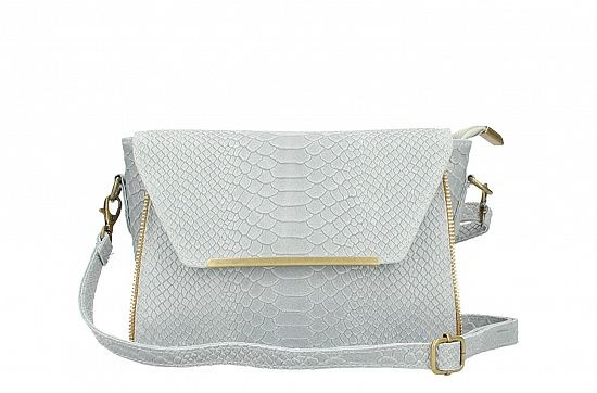 Italian Leather Snakeprint Cluch/Crossbody