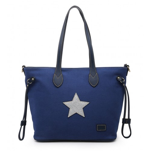 Star Shopper Bag in Blue