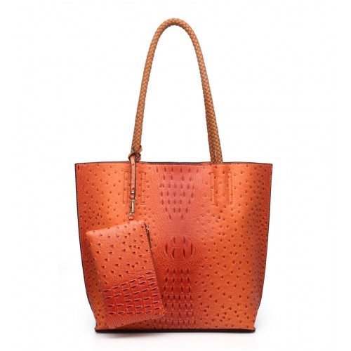 Moc Croc Fashion Shopper in Orange