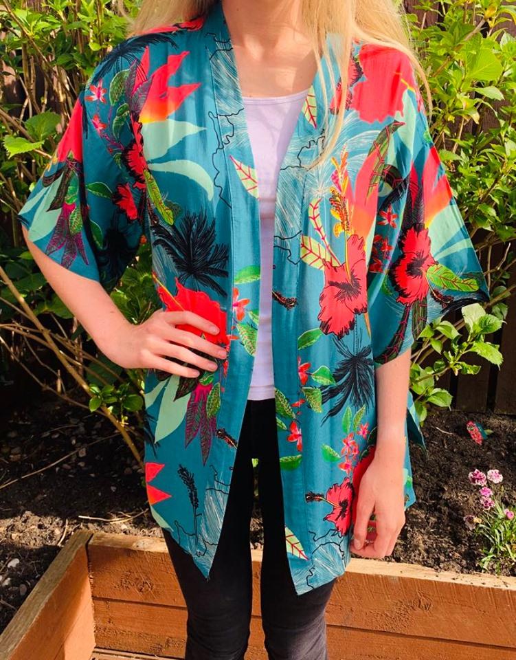 Floral Tropical Kimono