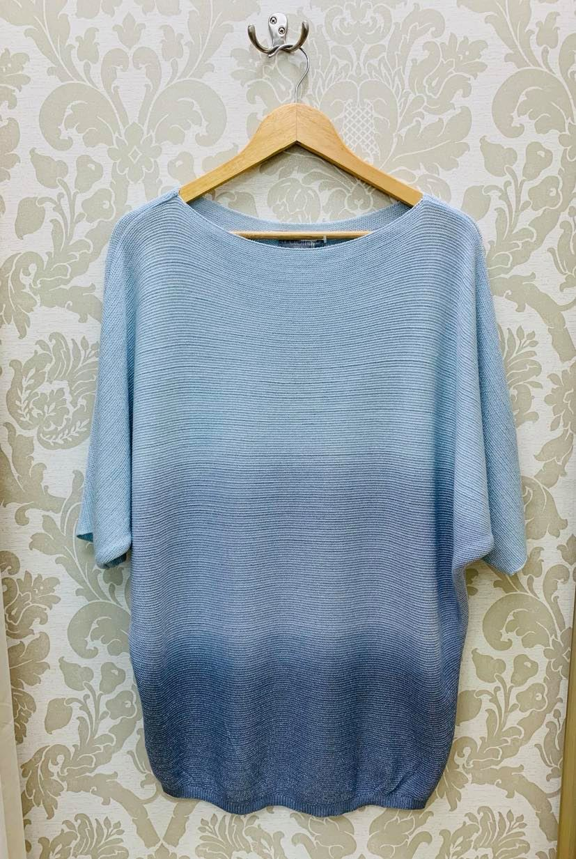 Italina Ombre Top in Light Blue